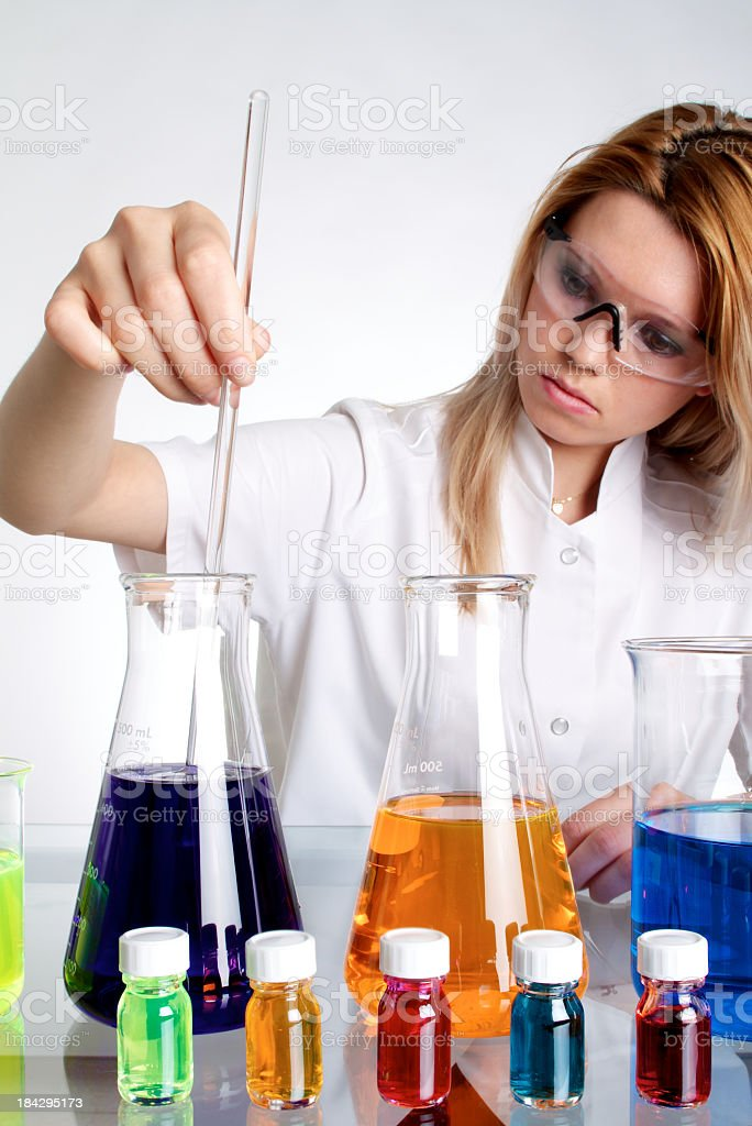 Chemist Woman Working In The Lab royalty-free stock photo