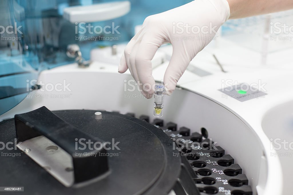 Chemistry analysis royalty-free stock photo