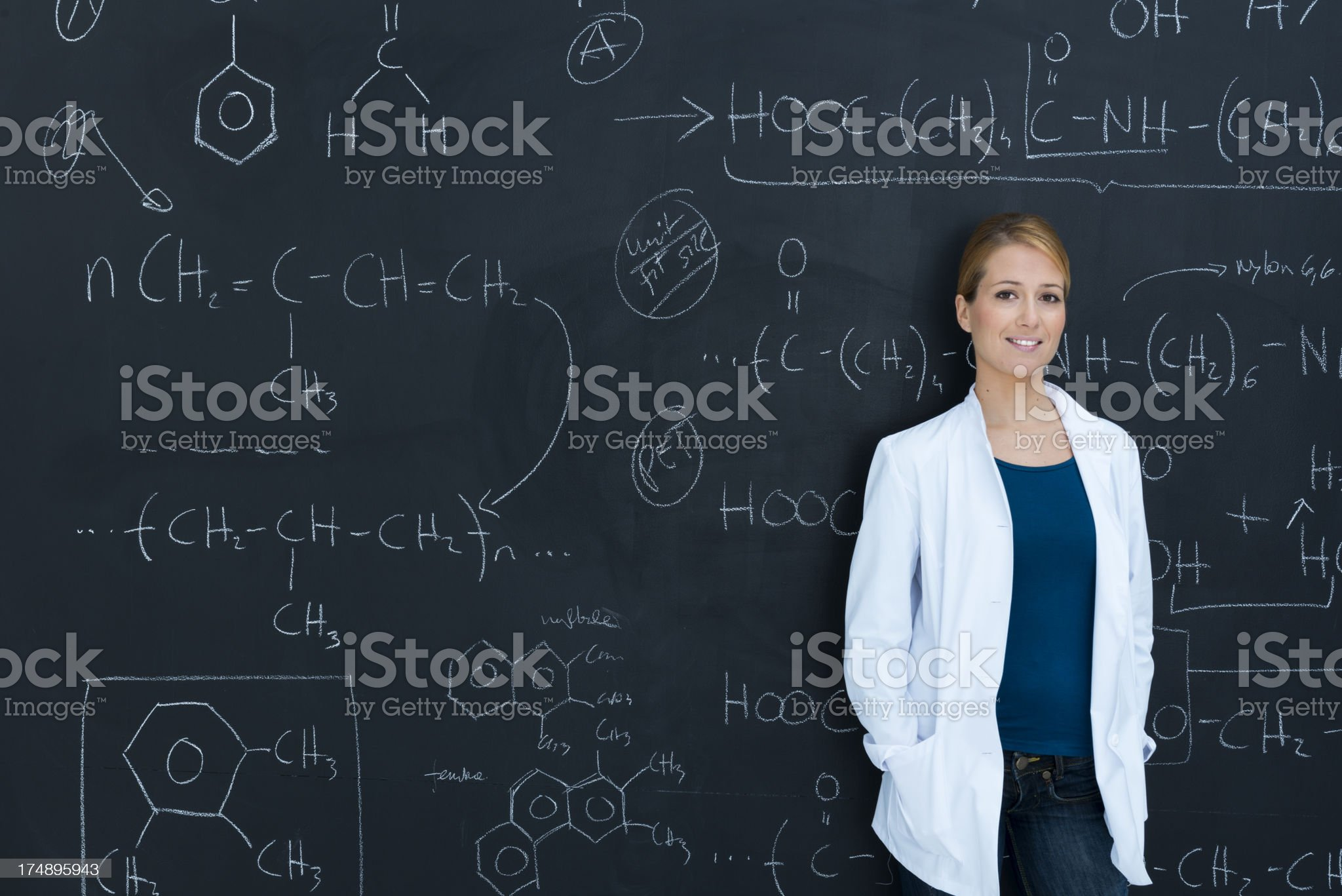 Chemistry class royalty-free stock photo