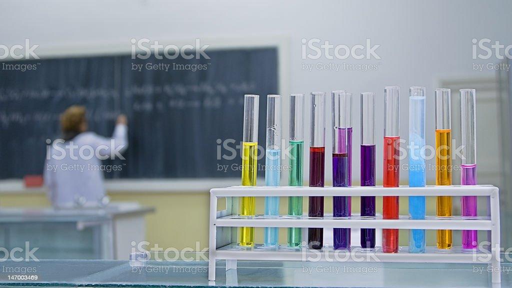 Chemistry classroom royalty-free stock photo