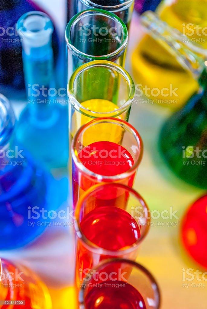 Chemistry colors stock photo