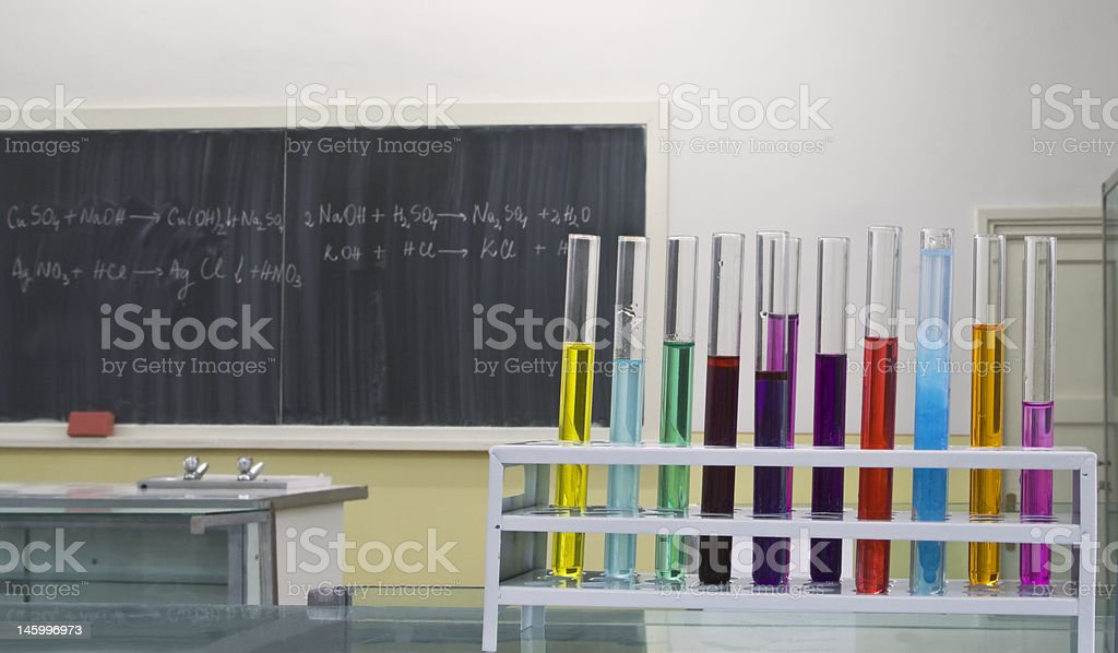 Chemistry lab room royalty-free stock photo