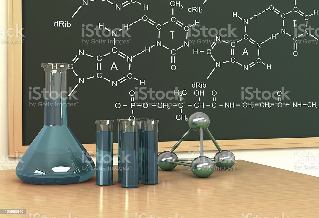 Chemistry Lesson royalty-free stock photo