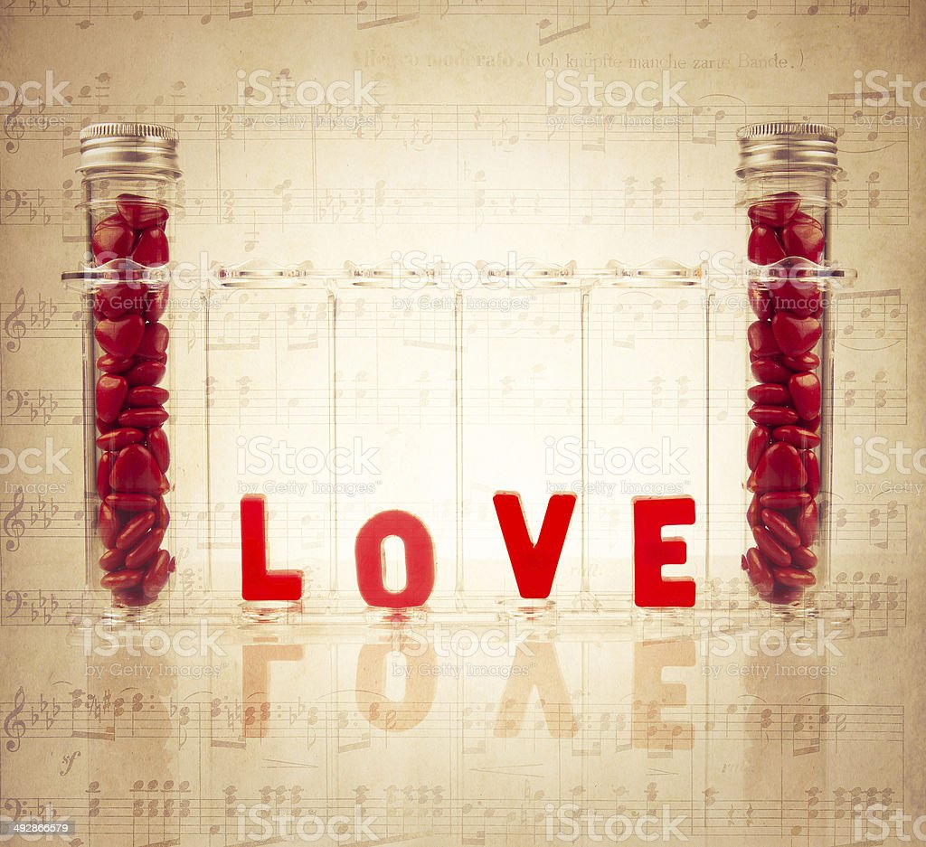 Chemistry of Love Concept royalty-free stock photo