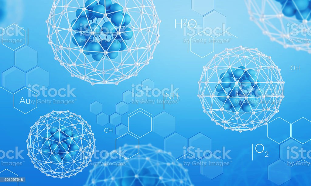 Chemistry science background stock photo