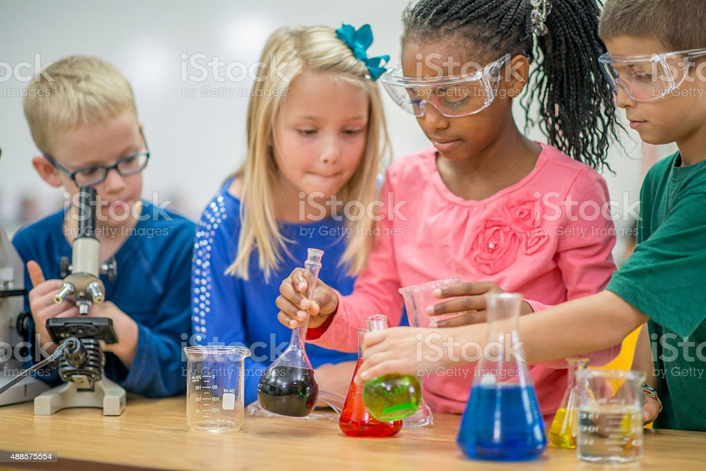 Chemistry Science Experiment stock photo