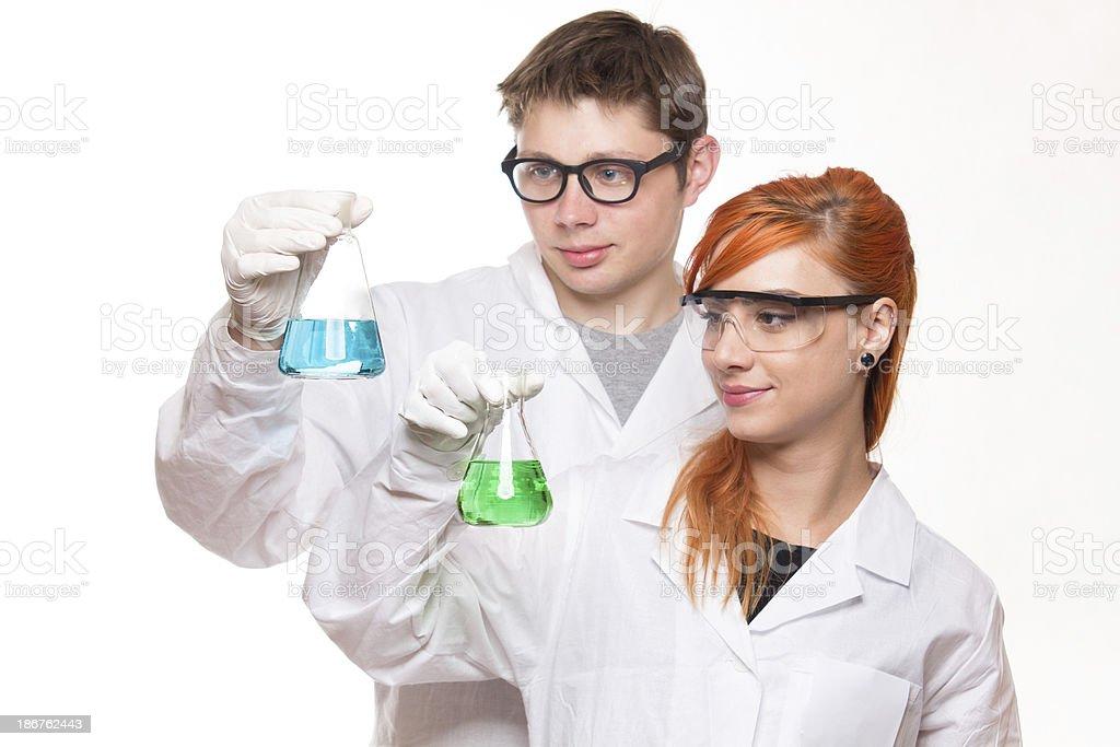 Chemistry Students royalty-free stock photo