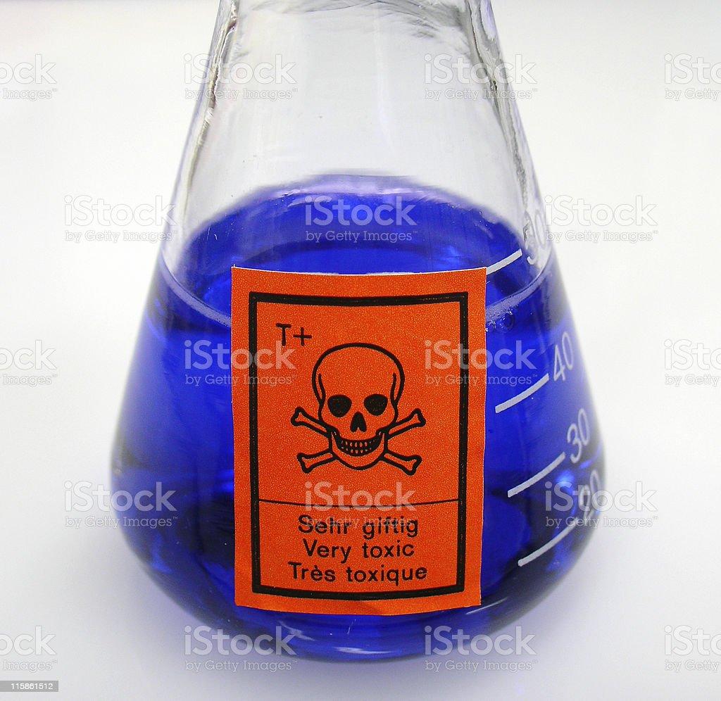 Chemistry: very toxic royalty-free stock photo