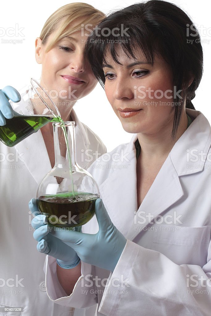 Chemists doing research royalty-free stock photo
