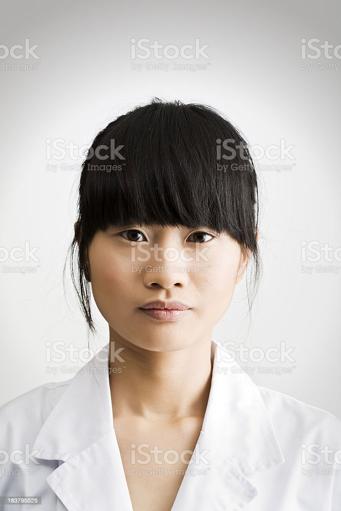 Chemist's plain portrait. stock photo