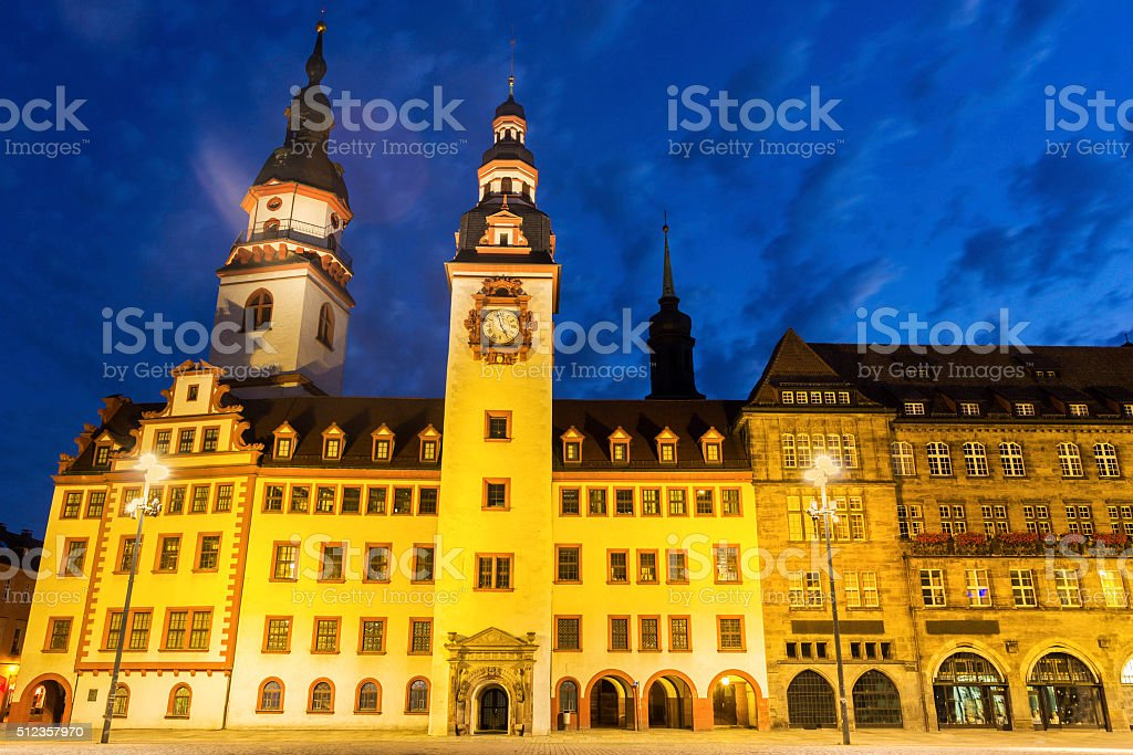 Chemnitz Town Hall in Germany stock photo
