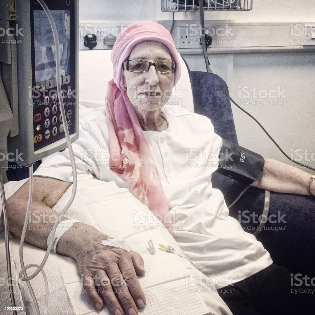 Chemotherapy Patient stock photo