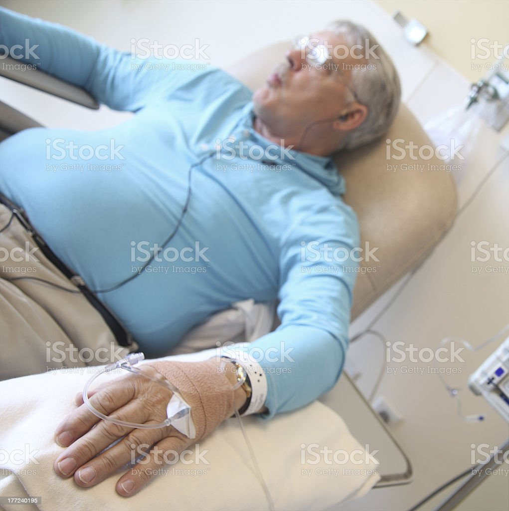 chemotherapy patient royalty-free stock photo