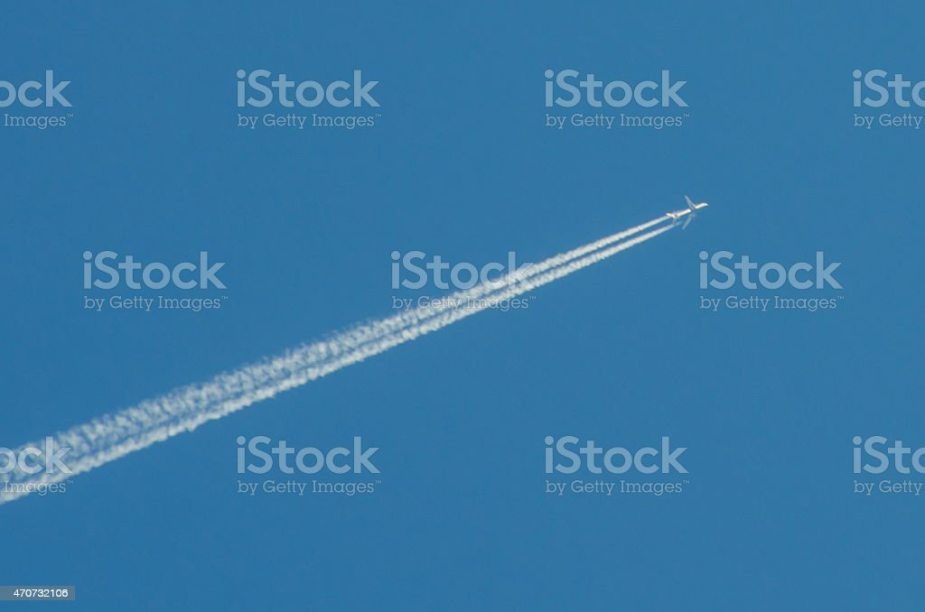 Chemtrail? stock photo