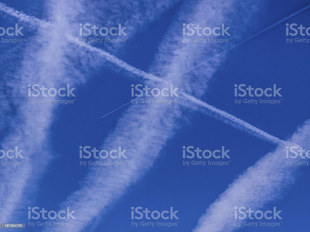 Chemtrails stock photo