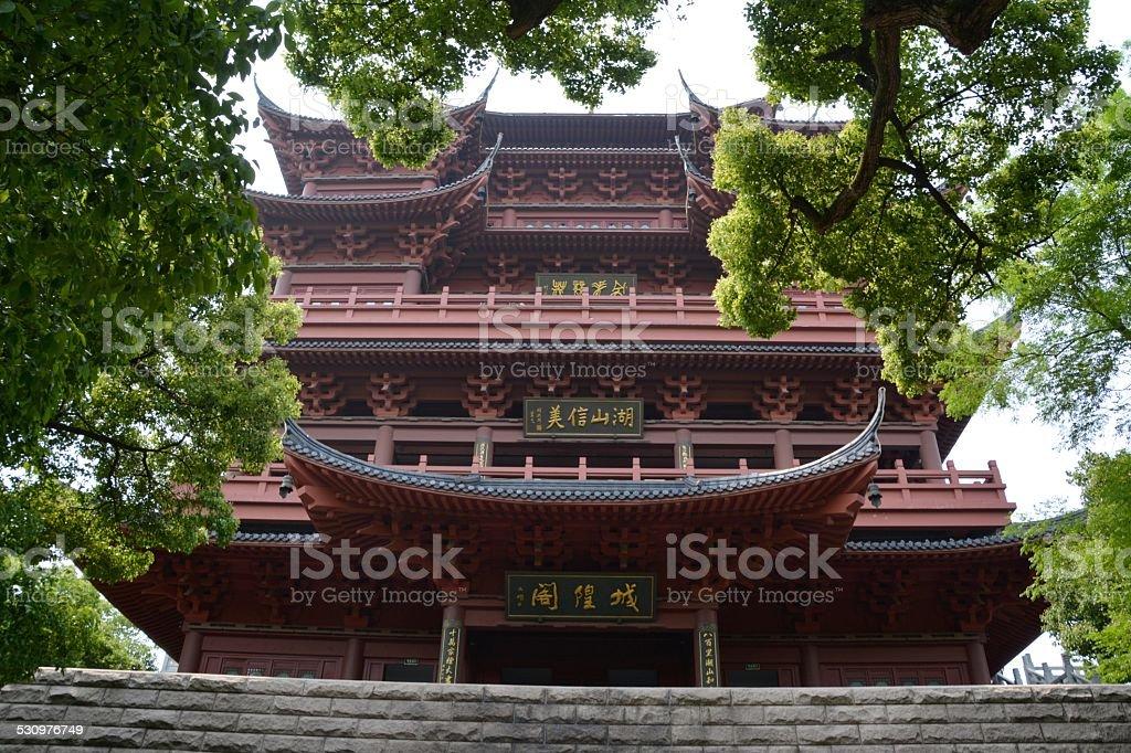 Cheng Huang temple, Hangzhou Zhejiang stock photo