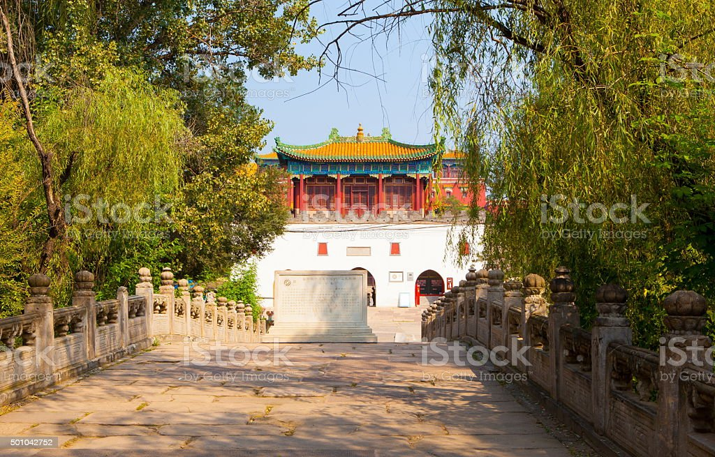 Chengde imperial summer resort scenry-Xumifusi Temple stock photo