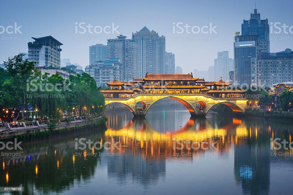 Chengdu, China On the Jin River stock photo