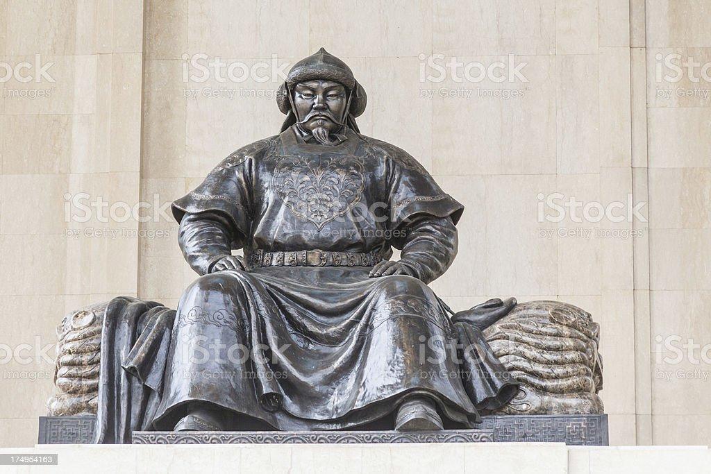 Chengghis Khaan monument in Ulaanbatar Mongolia stock photo