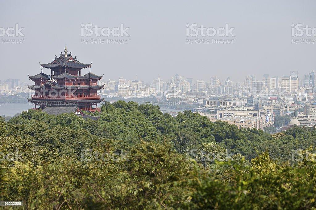 Chenghuang Pagoda In Hangzhou, China stock photo