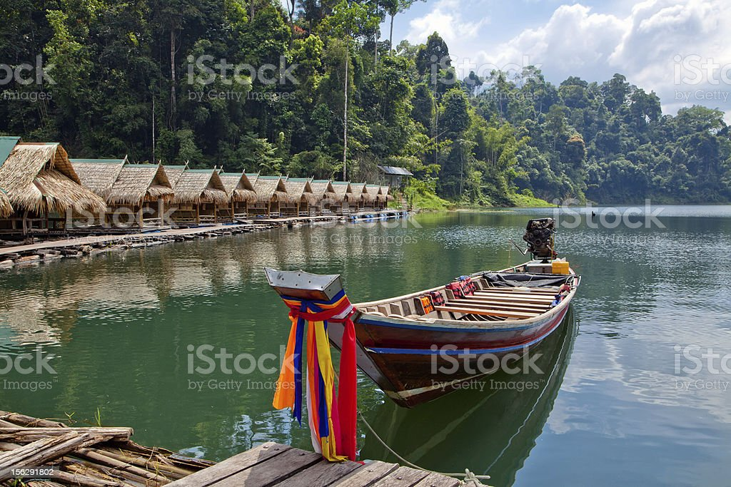 Cheo Lan Lake in Thailand stock photo