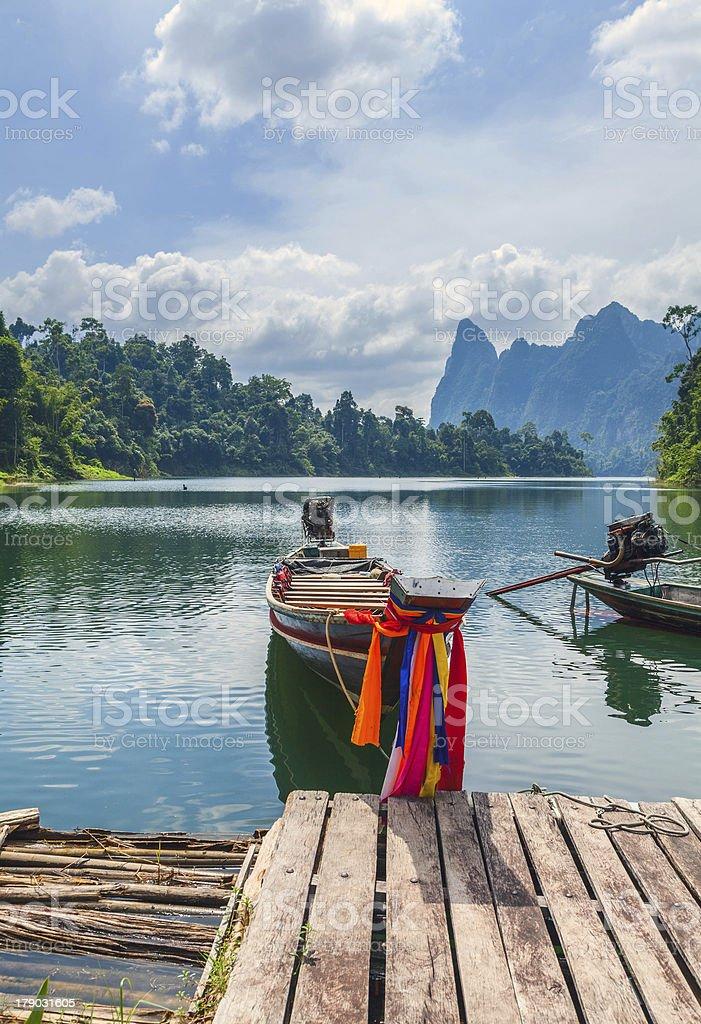 Cheo Lan Lake in the Thai Reserve stock photo