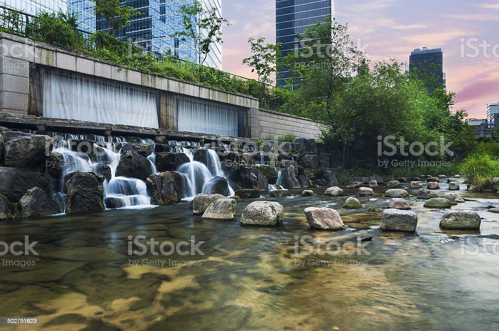 Cheonggyecheon Stream stock photo
