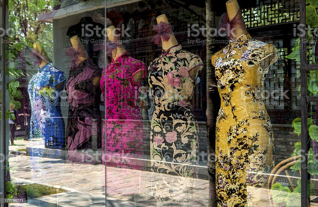 cheongsam stock photo