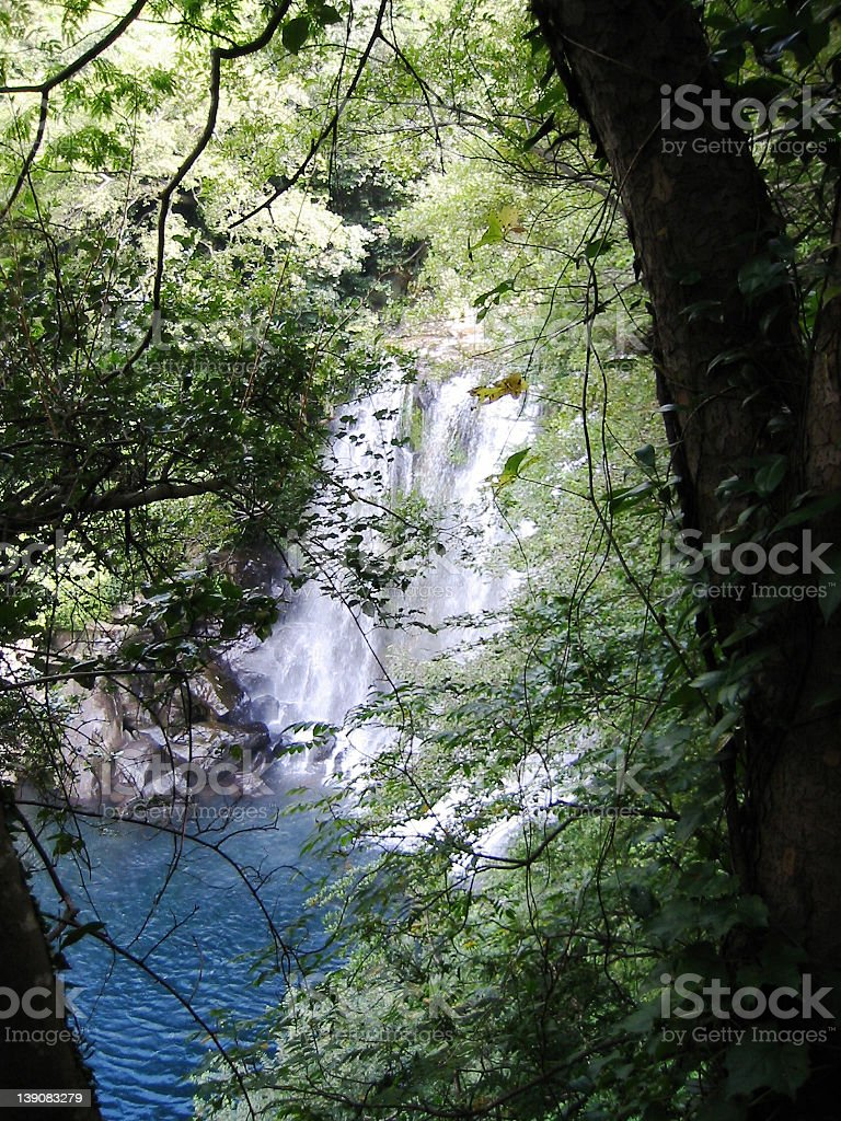 Cheonjeyeon Falls royalty-free stock photo