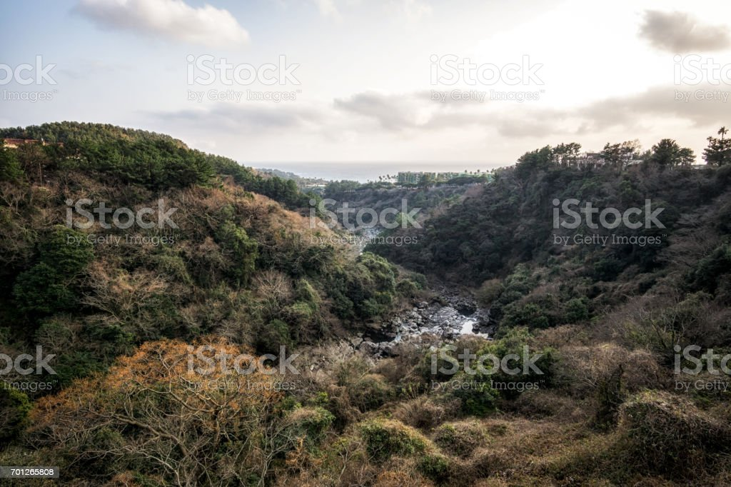 cheonjeyeon forest viewpoint stock photo