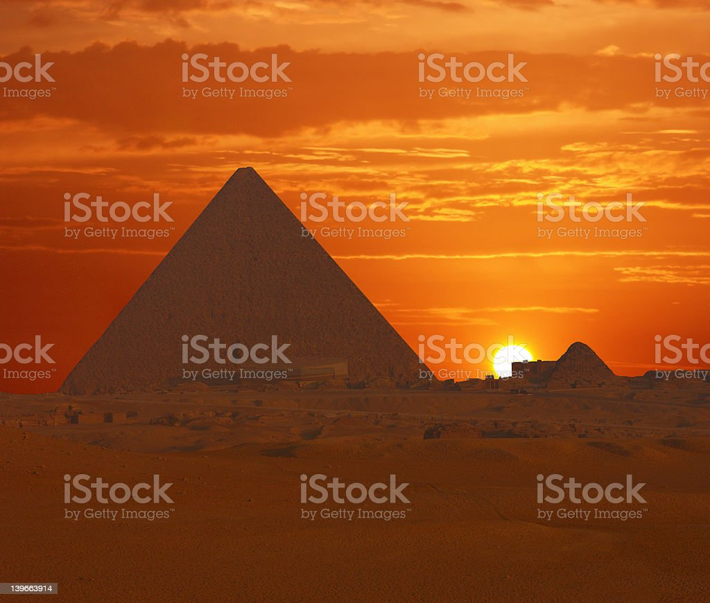 Cheops at Sunrise royalty-free stock photo