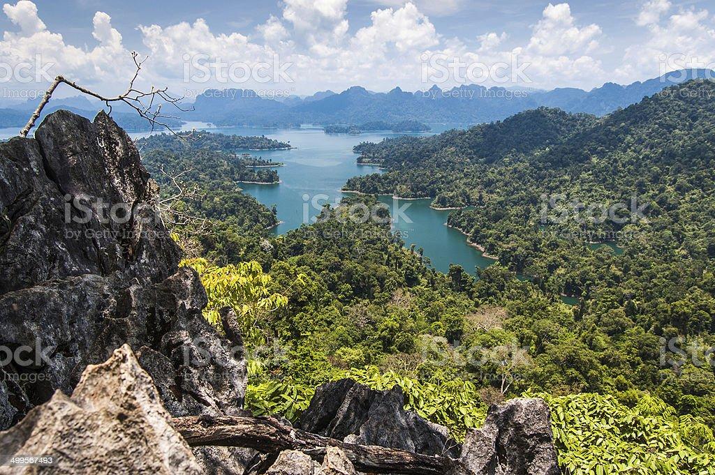 Cheow Lan Lake, Khao Sok National Park stock photo