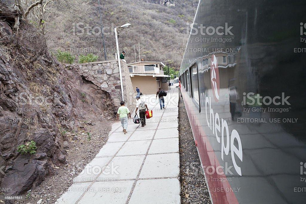 Chepe, the Copper canyon train, in Mexico stock photo