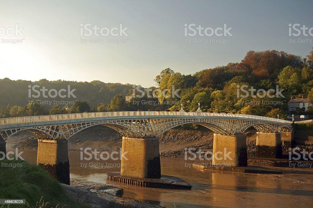 chepstow bridge stock photo