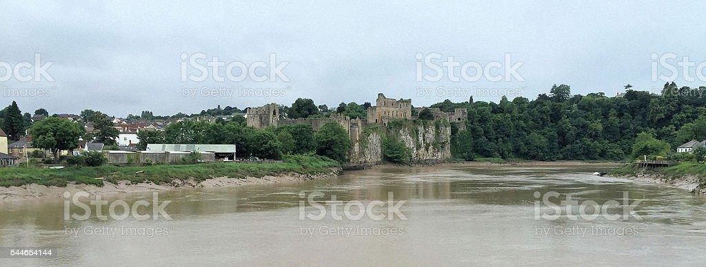 Chepstow Castle stock photo