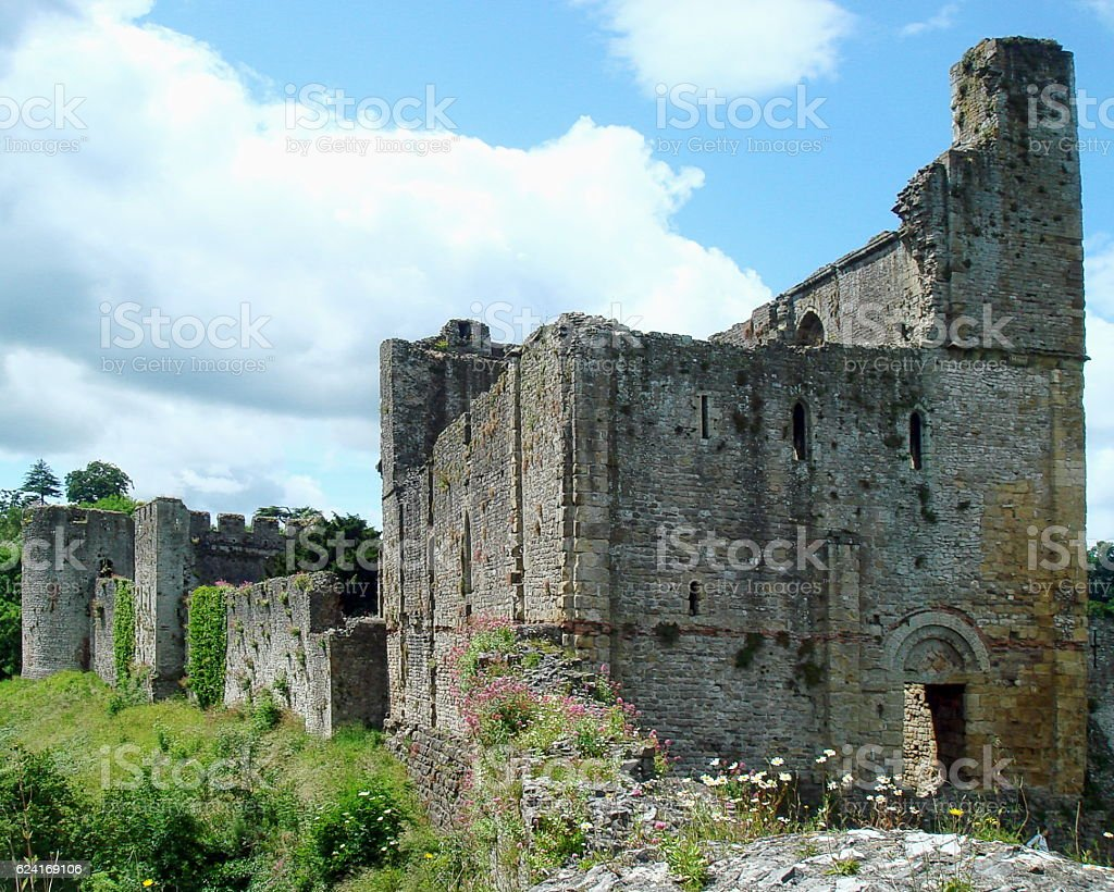Chepstow Castle stock photo