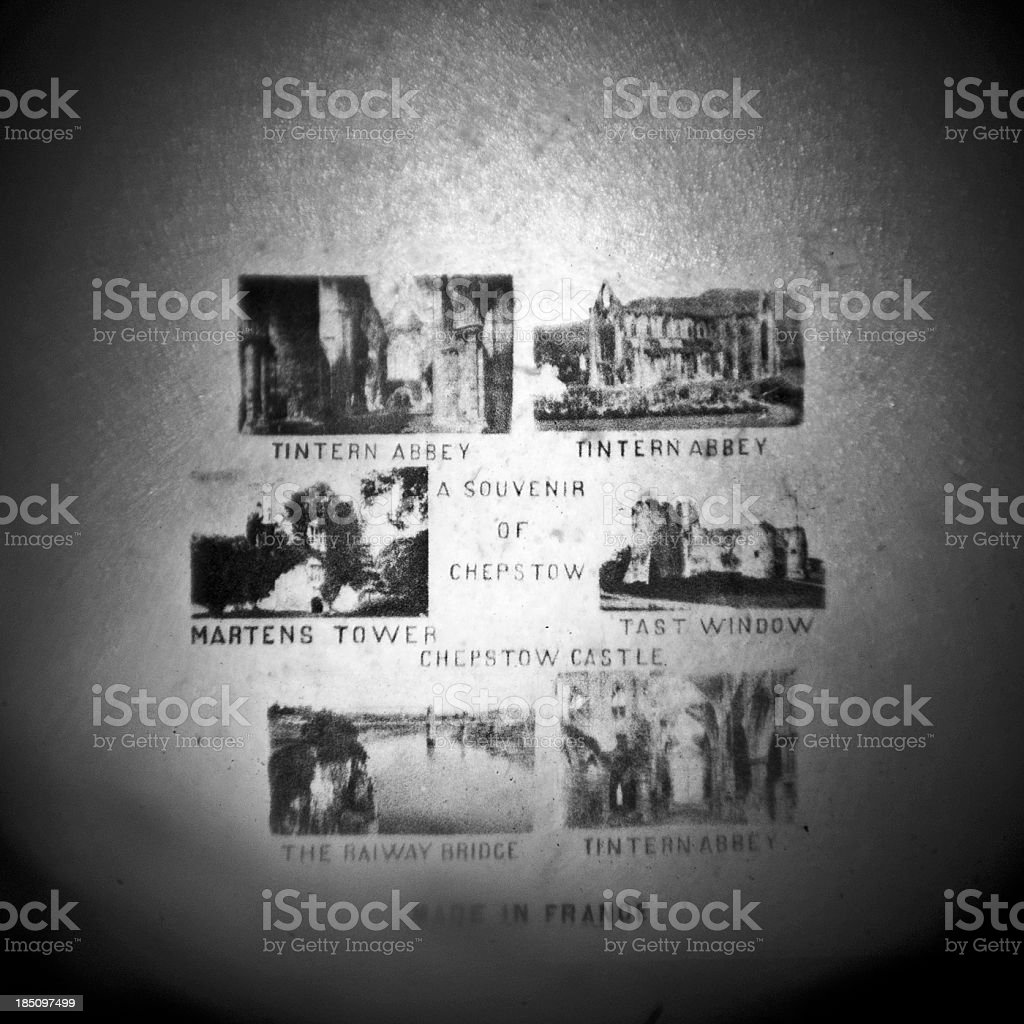 Chepstow microfilm images in Stanhope royalty-free stock photo