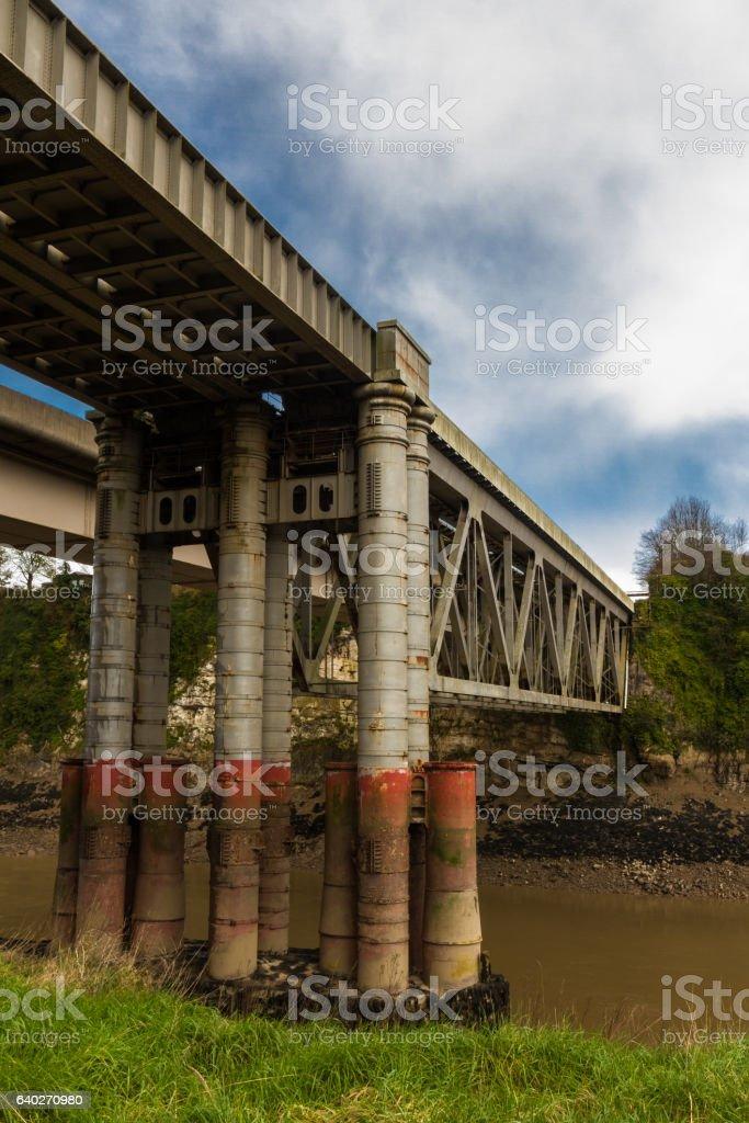 Chepstow Railway Bridge stock photo