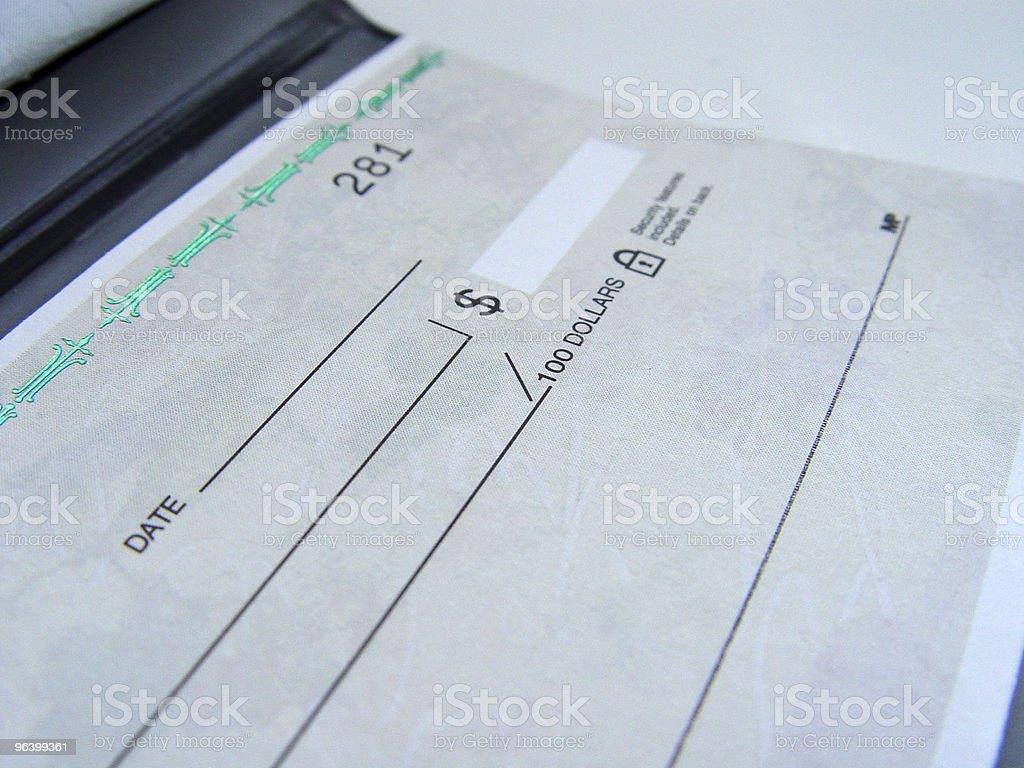 Cheque Book stock photo