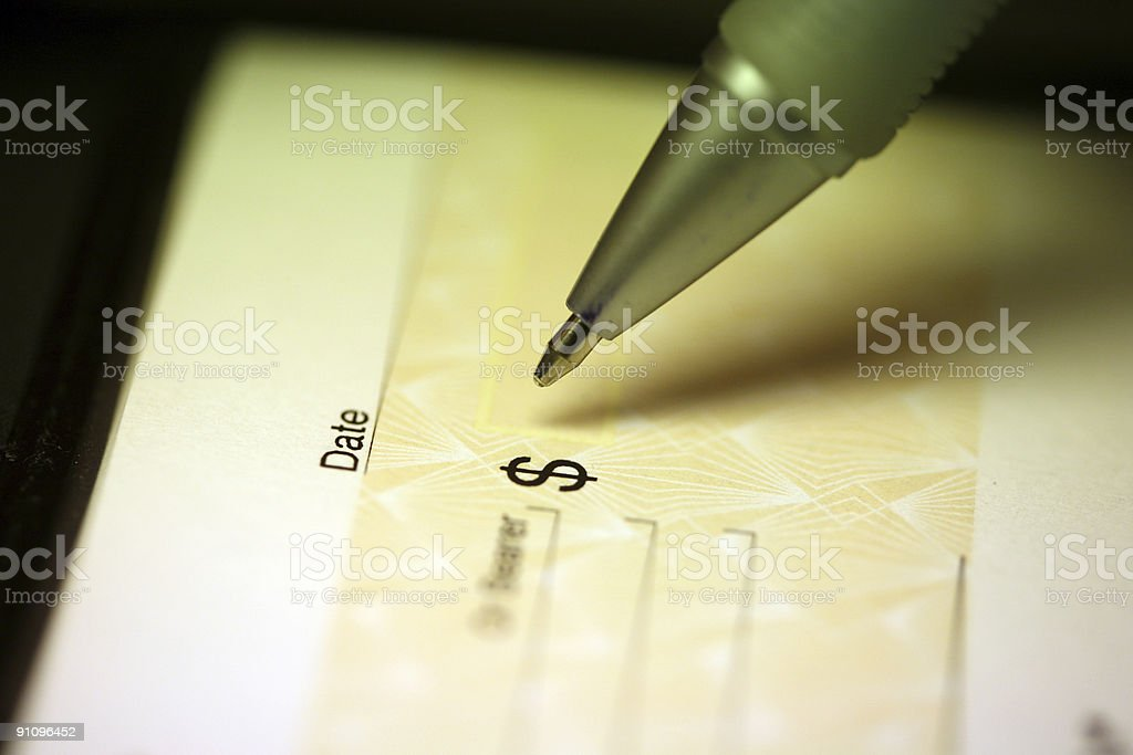 cheque royalty-free stock photo