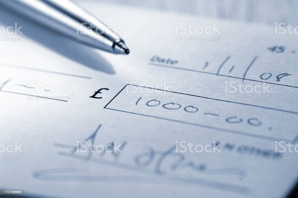 cheque series royalty-free stock photo