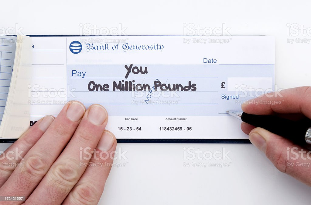 Cheque Sterling royalty-free stock photo