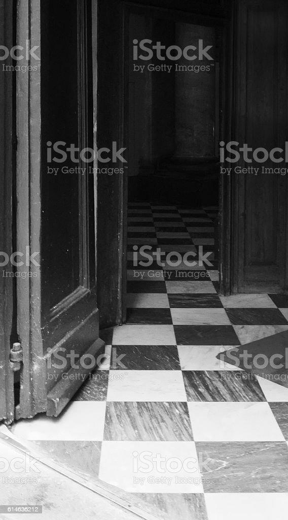 Chequerboard Flooring stock photo