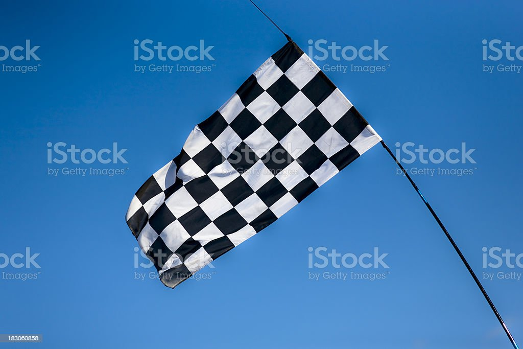 Chequered Checked race flag winning competetion royalty-free stock photo