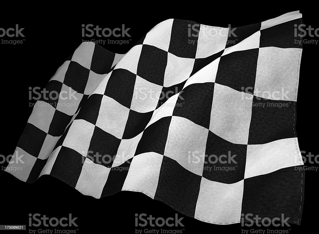 3D Chequered Flag royalty-free stock photo