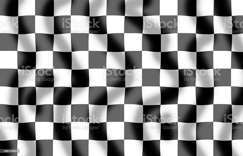 Chequered Flag Slight Ripple stock photo