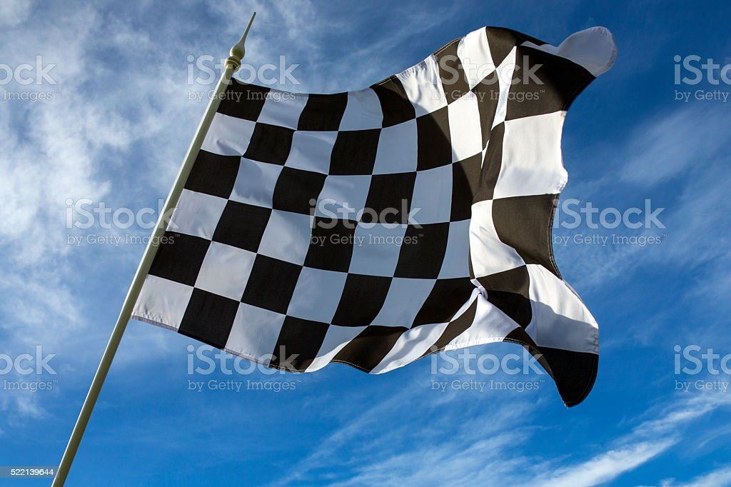 Chequered Flag - Winner stock photo
