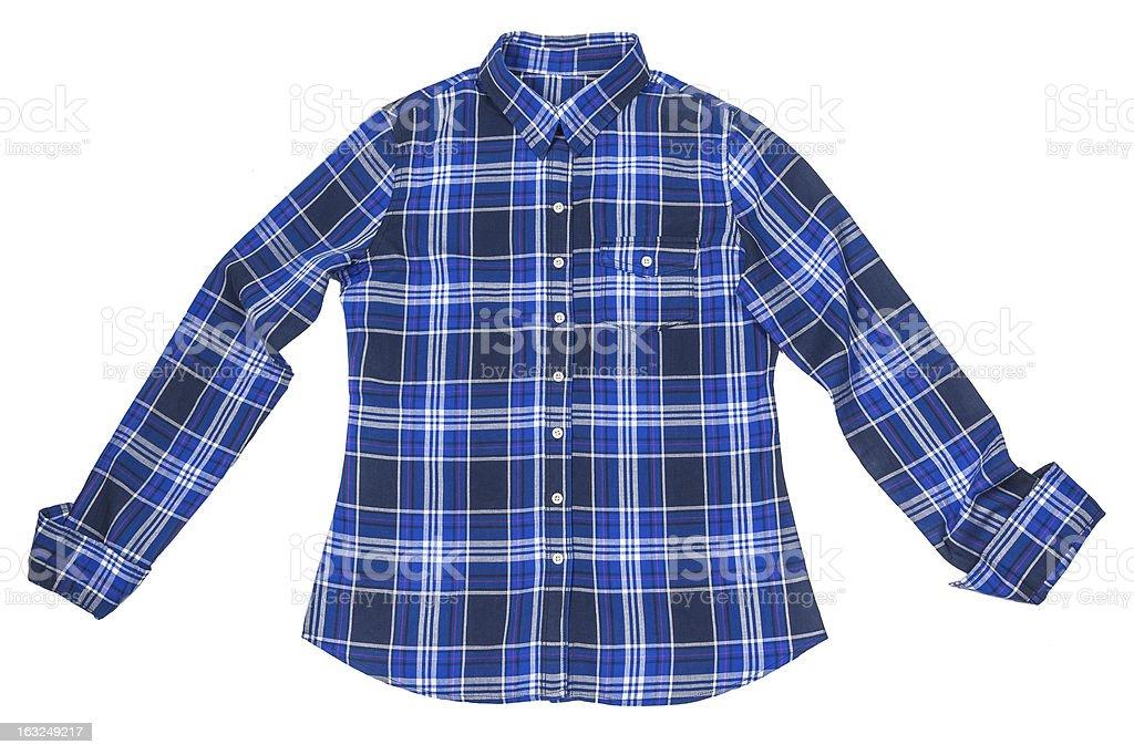 chequered shirt royalty-free stock photo