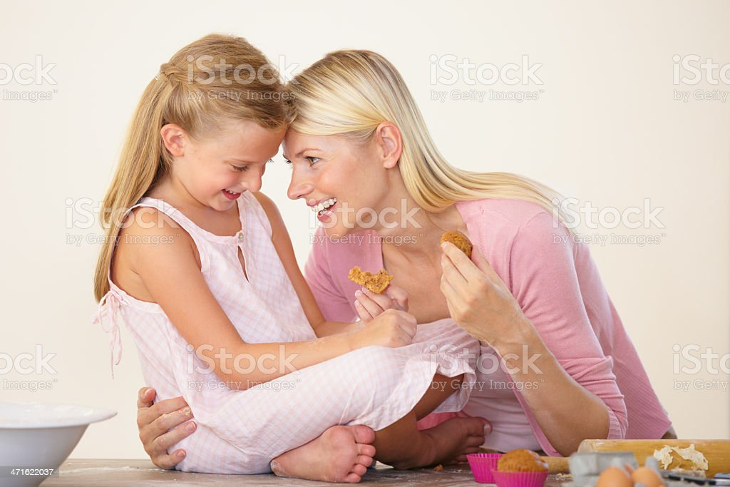 Cherishing every moment with her! royalty-free stock photo