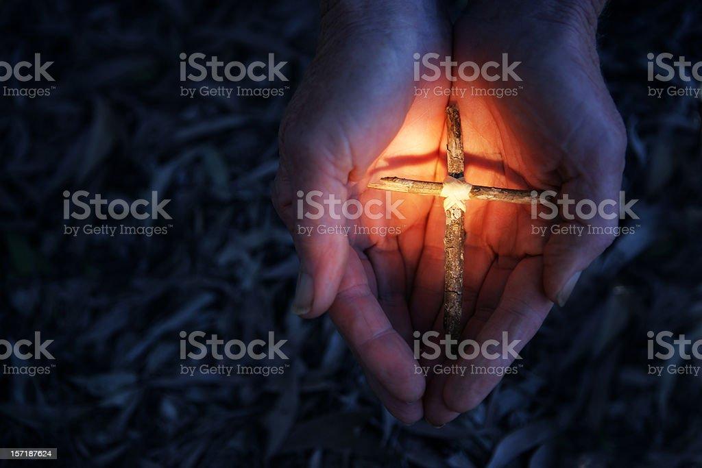 Cherishing Faith royalty-free stock photo